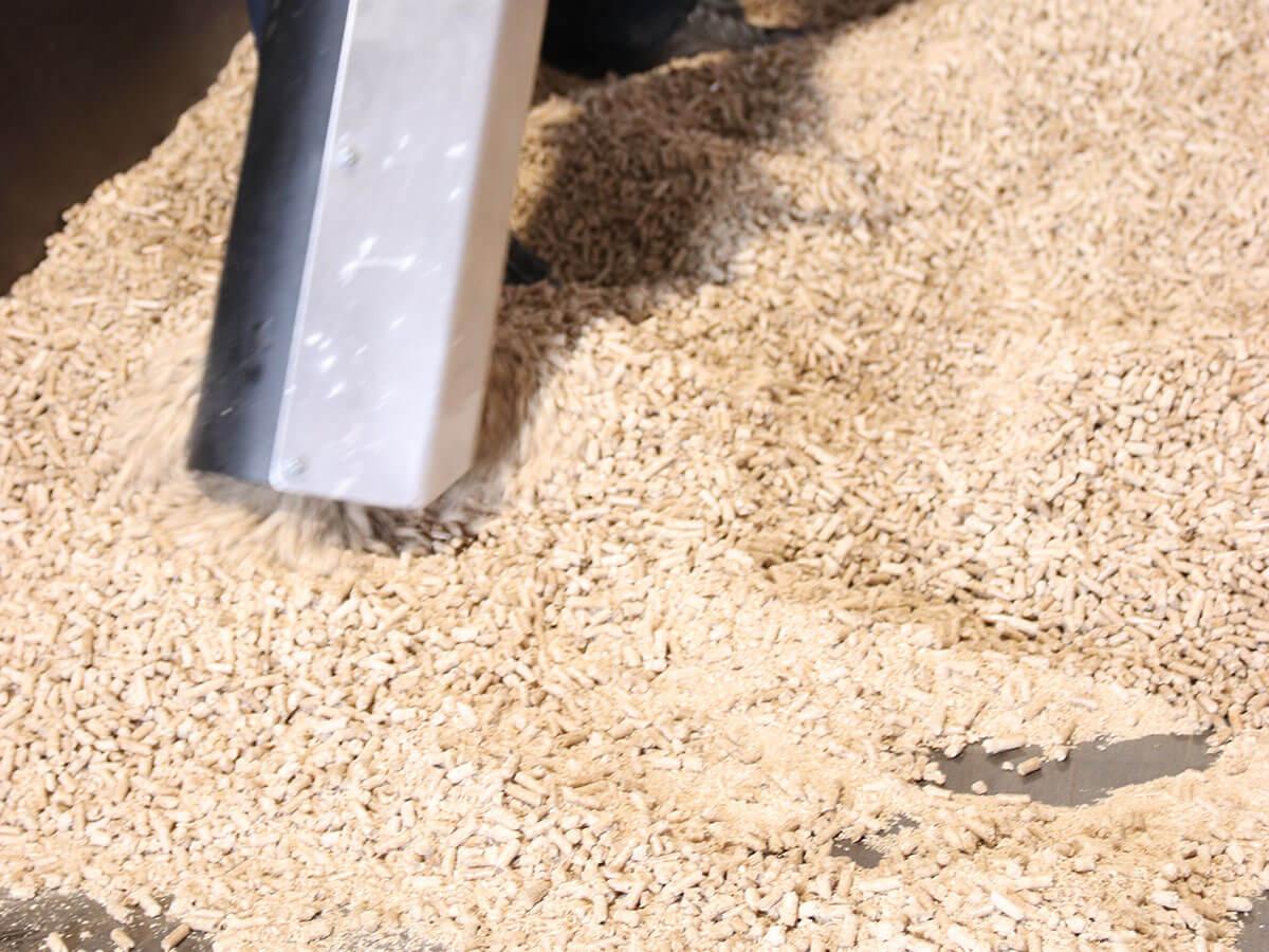 L'aspiration des granulés