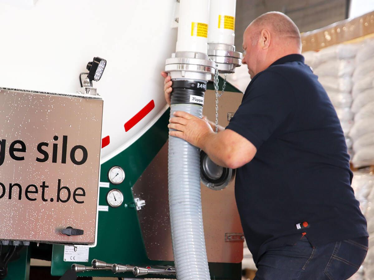 Préparation du camion